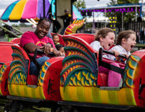 Scary Fun. Dragon ride at the Shasta County Fair in Anderson, California Stock Images