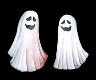 Scary Funny Ghost. Watercolor illustration Royalty Free Stock Photo