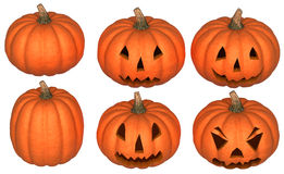 Scary and funny Halloween pumpkins Royalty Free Stock Photography