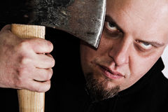 Scary gaze from the killer. Cold and scary gaze from creepy man Royalty Free Stock Photo