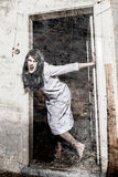 A scary ghost girl Stock Images
