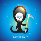 Scary ghost for Happy Halloween celebration. Royalty Free Stock Image