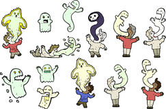 Scary ghost and people Stock Image