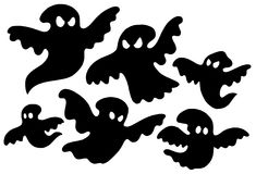 Scary ghost silhouettes vector vector illustration