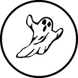 Scary ghost vector illustration Royalty Free Stock Photos