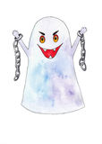 Scary ghost on a white background Royalty Free Stock Photography