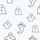 Scary ghosts seamless pattern. Scary and cute  ghosts seamless pattern. Vector illustration Stock Photography