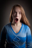 Scary girl portrait Stock Photo