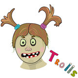 Scary girl troll Stock Images