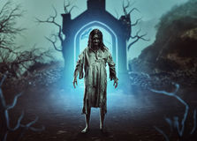 The scary gothic zombie Stock Images