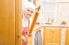 Scary grandma Royalty Free Stock Images
