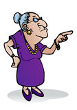 Scary grandmother stock illustration