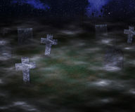 Scary Graveyard Background Stock Photos