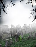 Scary graveyard Stock Photo