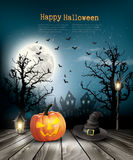 Scary Halloween background with a old paper. royalty free stock photos