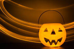 Scary Halloween background with pumpkins Royalty Free Stock Photos