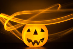 Scary Halloween background with pumpkins Royalty Free Stock Photography
