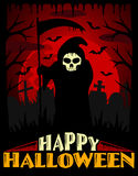 Scary Halloween background ,red Royalty Free Stock Photography