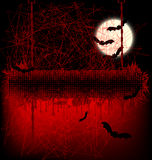 Scary Halloween banner Royalty Free Stock Photo