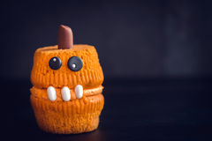 Single scary cupcake Royalty Free Stock Image