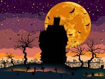 Scary Halloween Dark House. Stock Images