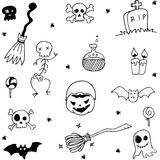 Scary halloween doodle element Stock Photos