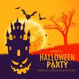 Scary halloween festival party invitation background Royalty Free Stock Photos