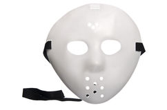 Scary Halloween Hockey Mask. On Isolated White Background stock photo