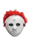 Scary Halloween Hockey Mask with Red Hair Stock Images