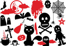 Scary halloween icon elements set Stock Photography