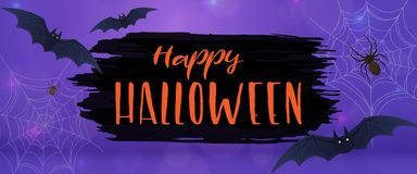 Scary Halloween illustrationl Stock Image