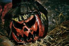 Scary halloween jack-o-lantern Royalty Free Stock Image