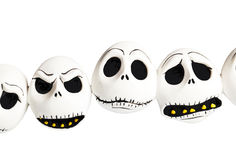 Scary halloween masks isolated on white. Scary emotional halloween masks isolated on white Royalty Free Stock Photos