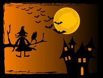 Scary Halloween night. Background Royalty Free Stock Image
