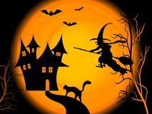 Scary Halloween night. Background Royalty Free Stock Photos