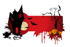 Scary halloween night. Illustration of scary halloween night on white background Stock Photography