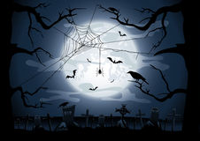 Scary Halloween night. Background, illustration Stock Image