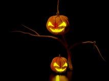 Scary halloween night. A computer generated scary halloween scene stock illustration