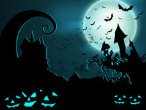 Scary Halloween night background. Stock Image