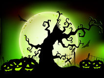 Scary Halloween night background. Stock Photography