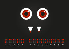 Scary Halloween poster with Braille text Royalty Free Stock Photos