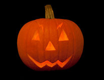 Scary halloween pumpkin with face Royalty Free Stock Photography