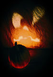 Scary halloween pumpkin Royalty Free Stock Photos