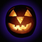 SCARY HALLOWEEN PUMPKIN BACKGROUND Stock Photography