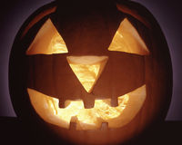 SCARY HALLOWEEN PUMPKIN HEAD Royalty Free Stock Photo
