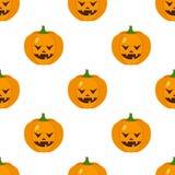 Scary Halloween Pumpkin Icon Seamless Stock Image