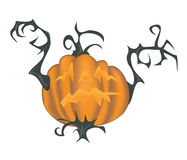 Scary halloween pumpkin - illustration Royalty Free Stock Photos