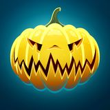 Scary Halloween Pumpkin Stock Images