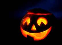 Scary halloween pumpkin jack-o-lantern Stock Images