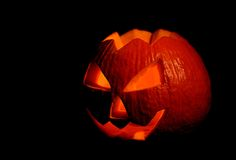 Scary halloween pumpkin jack-o-lantern Royalty Free Stock Images